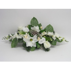 Aranžmán 4190, gladiola, magnolia, ruža, 87 x 30 cm