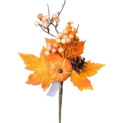 Zápich jeseň s tekvicou, 30 cm