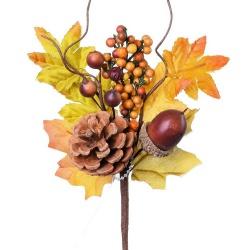 Zápich jeseň, s plodmi, 16 cm
