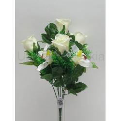 Kytica ruža a orchidea x7, 40 cm