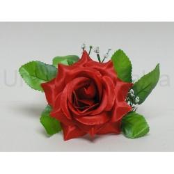 Vencovka ruža s listom, mix farieb, 16 cm