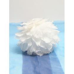 Vianočná gula s perím, 16 cm