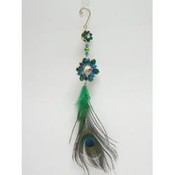 Záves perie, dekoračné, 35 cm