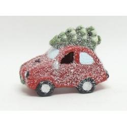 Auto, keramické, s LED svietidlom, 15 cm