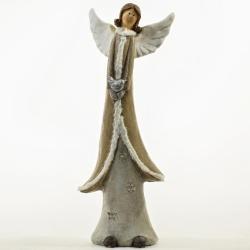 Anjel v zimnom kabáte, LED, 21 x 14,5 x 55 cm