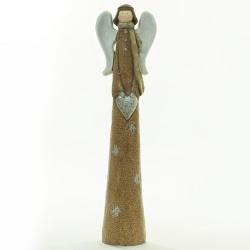 Anjel v zimnom kabáte, LED, 16 x 11 x 60 cm