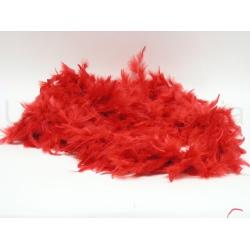 Girlanda perie, červená, 180 cm