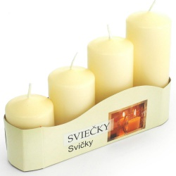 Adventné sviečky, postupné, ecru, 13 x 20 x 5 cm