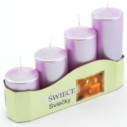 Adventné sviečky, postupné, bledofialové, 13 x 20 x 5 cm