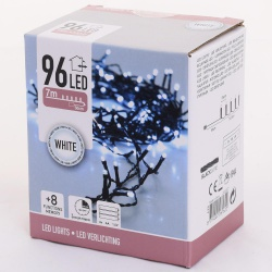 Vianočné svetielka, WHITE, 96 LED