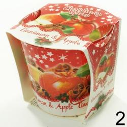 Vonná sviečka v skle, Christmas spices, 8,5 x 9 x 9 cm