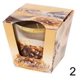Vonná sviečka v skle, Coffe & spices, 8,5 x 9 x 9 cm