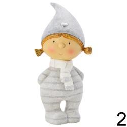 Dieťa chlapec / dievča so šálom, 10 x 7 x 23 cm
