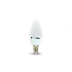 V-TAC LED žiarovka - E14 C37 3W studená biela