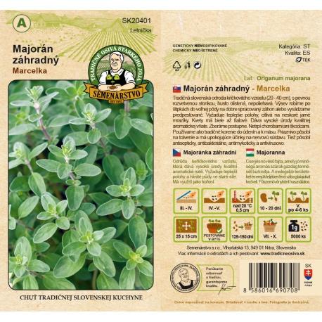 Majorán záhradný, MARCELKA, A, SK20401, 0,3 g