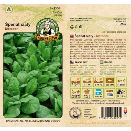 Špenát siaty, MATADOR, A, SK13601, 10 g