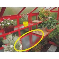 Pestovateľský stôl s kaleným sklom, 1 ks, 1,5 m