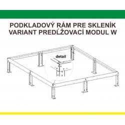 Predĺženie podkadového rámu pre L-W, 1,5 m