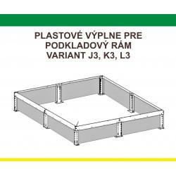 Plastová výplň podkladového rámu pre J3, K3, L3