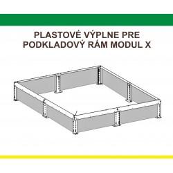 Plastová výplň podkladového rámu pre predĺženie J-X, K-X, 1m