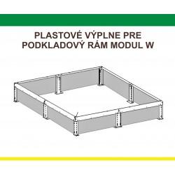 Plastová výplň podkladového rámu pre predĺženie L-W, 1,5 m