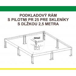 Podkladový rám pre skleník H6/2,5