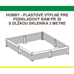 Plastová výplň PR H7/3 (VPR30)