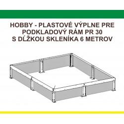 Plastová výplň podkladového rámu H6/2,5