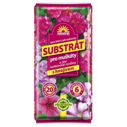 Substrát pre muškáty a iné balkónové rastliny, 20 L