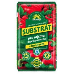 Substrát pre rajčiny, papriky a uhorky, 40 L