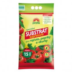 Substrát pre rajčiny, papriky a uhorky – Supresívny, 15 L