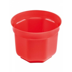 SOPOT - Plastový kvetináč, červený, 15 cm