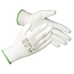 Rukavice BUNTING White 10 (XL) záhradné, nylon, biele