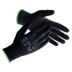 Rukavice BUNTING Black 08 (M) záhradné, nylon