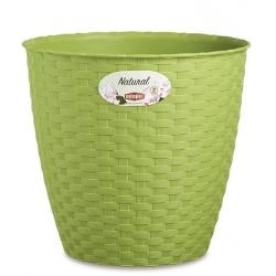 Obal RATTANO, zelená, 19 cm