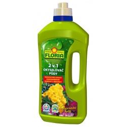 2 V 1 - Hnojivo pre azalky a rododendrony / okysllovač pôdy - FLORIA, 1 L