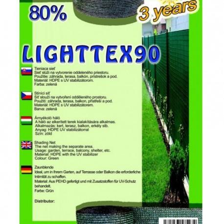 Sieť tieniaca LIGHTTEX, zelená, 1 x 1 m