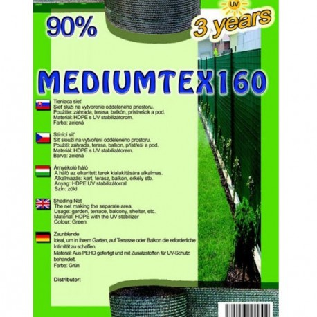 Sieť tieniaca MEDIUMTEX, zelená, 1,2 x 1 m