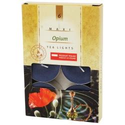 Čajové sviečky, voňavé, opium, maxi, 6 ks
