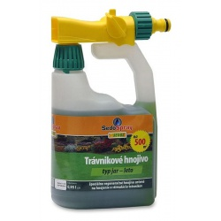 SedoSpray JAR A LETO, trávnikové hnojivo s aplikátorom, 0,95 L